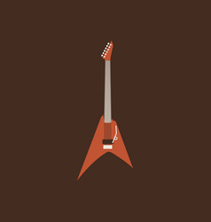 retro guitar icon isolated string ill vector image