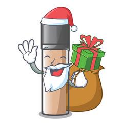 Santa with gift faundation makeup in a cartoon vector