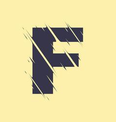 scribbled letter f vector image