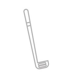 shadow grey golf club cartoon vector image