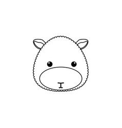 Sheep drawing face vector