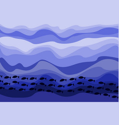 Shoal fishes in a sea vector