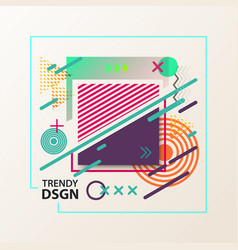 Simple geometric cover design with shapes vector