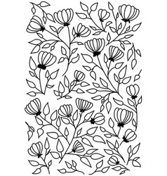 sketch floral pattern vector image