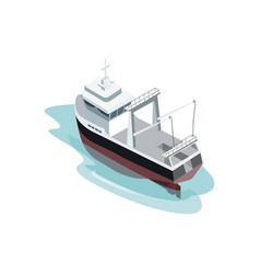 small industrial ship on ocean vector image