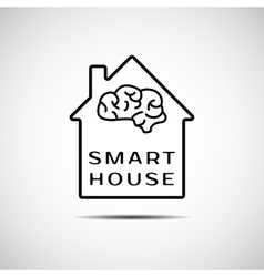 Smart house icon vector