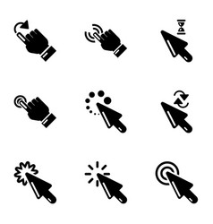 Snap icons set simple style vector