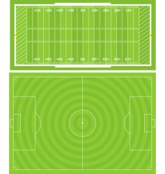 sportsfields vector image