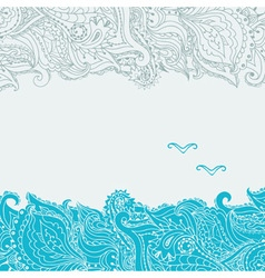 Stock background on the marine theme with an vector