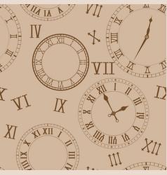 time background clocks on beige background vector image