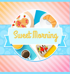 Traditional breakfast concept vector