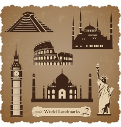 Travel icon set2 sepia silhouettes vector image