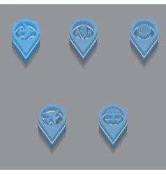 travel icons Isometric vector image