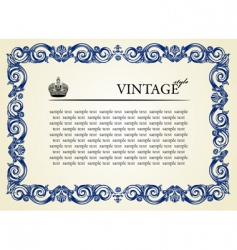 vintage frame ornament vector image vector image