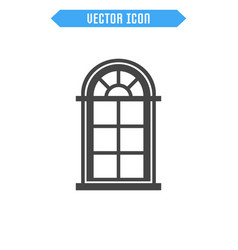 window flat icon vector image