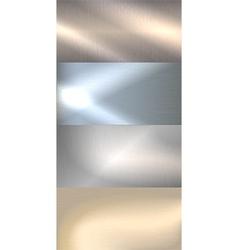 Brushed metal background vector image