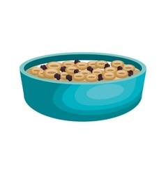cereal plate isolated icon vector image