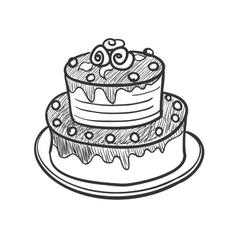Doodle pie vector image vector image