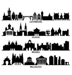 luxembourg helsinki monaco and wellington vector image vector image