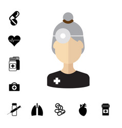 medical specialist avatar vector image vector image