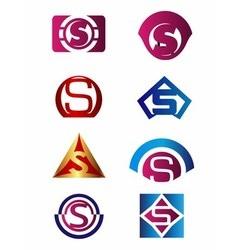 Set of letter S logo Branding Identity Corporate vector image