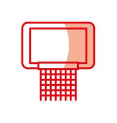 shadow red basketball hoop vector image