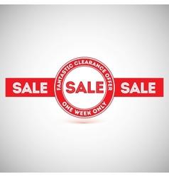 Sale offer Vintage labels design elements vector image vector image