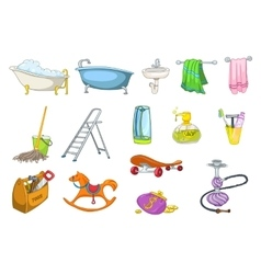 Set of bath toiletries and equipment vector image