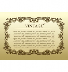 vintage ornament frame decorative background vector image vector image