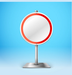 Blank metal round information board Template for a vector image vector image