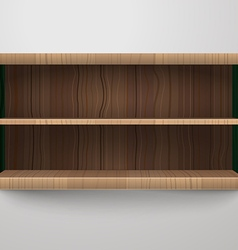 Empty shelves Template for a content vector image vector image