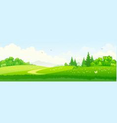 green landscape banner vector image vector image