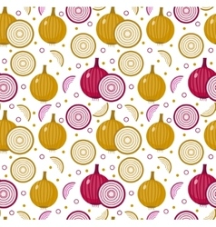 Onions seamless pattern Bulb onion endless vector image