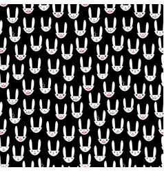 rabbit seamless pattern-17 vector image