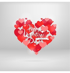 St Valentines greeting card with wishes vector image