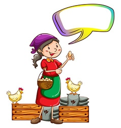 A vendor selling eggs with an empty callout vector image vector image