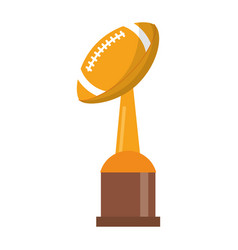 award cup american football sport vector image