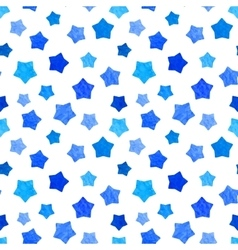 Bright blue watercolor stars background can be vector image vector image