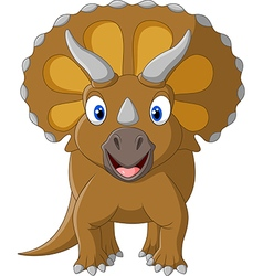 Cute Triceratops three horned vector image vector image