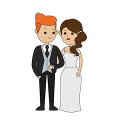 groom and bride icon image vector image