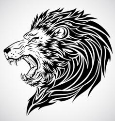 lion roar tattoo vector image vector image