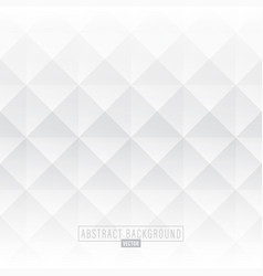 white abstract diamond background vector image
