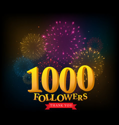 1 million followers celebrations banner vector image