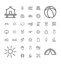 37 summer icons vector