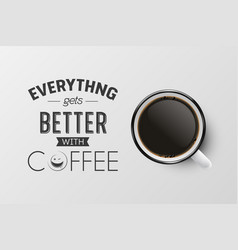 3d realistic enamel metal white mug black vector