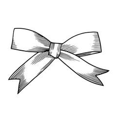 A bow ribbon gift vector