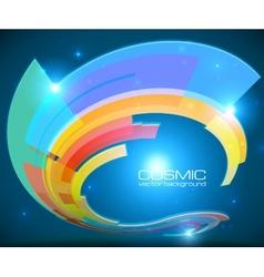 Abstract cosmic shining colorful circle frame vector