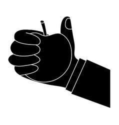 apple hand hold icon image vector image