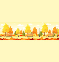 autumn city park panorama vector image