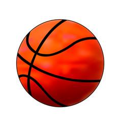 basketball ball simple flat orange gradient vector image